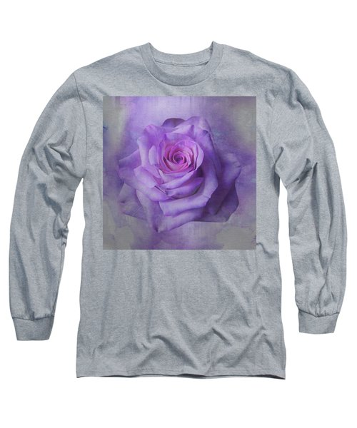 Lilac Purple Rose Long Sleeve T-Shirt