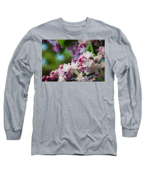 Lilacs Of Spring Long Sleeve T-Shirt by Joni Eskridge