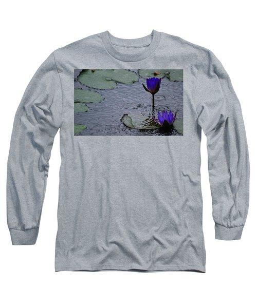 Lilies In The Rain Long Sleeve T-Shirt