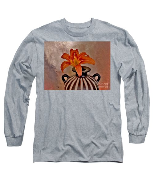 Lily In A Peruvian Vase Long Sleeve T-Shirt