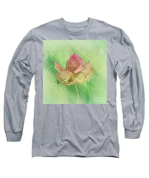 Long Sleeve T-Shirt featuring the mixed media Lily My Lovely - S112sqc88 by Variance Collections