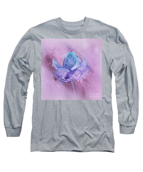 Long Sleeve T-Shirt featuring the digital art Lily My Lovely - S113sqc77 by Variance Collections
