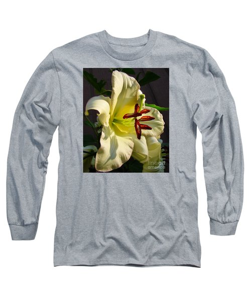 Lily's Morning Long Sleeve T-Shirt by Pamela Clements