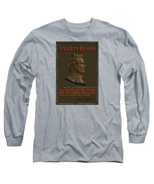 Lincoln Gettysburg Address Quote Long Sleeve T-Shirt