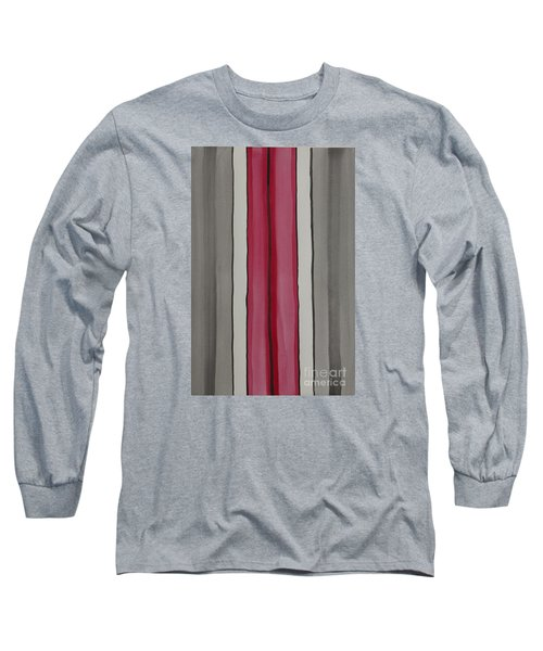 Long Sleeve T-Shirt featuring the painting Lines by Jacqueline Athmann