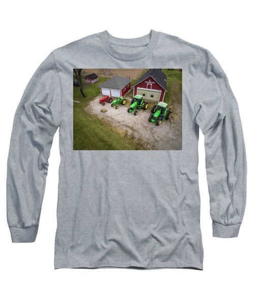 Lining Up The Tractors Long Sleeve T-Shirt