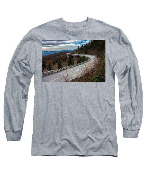 Linn Cove Viaduct Late Fall Long Sleeve T-Shirt