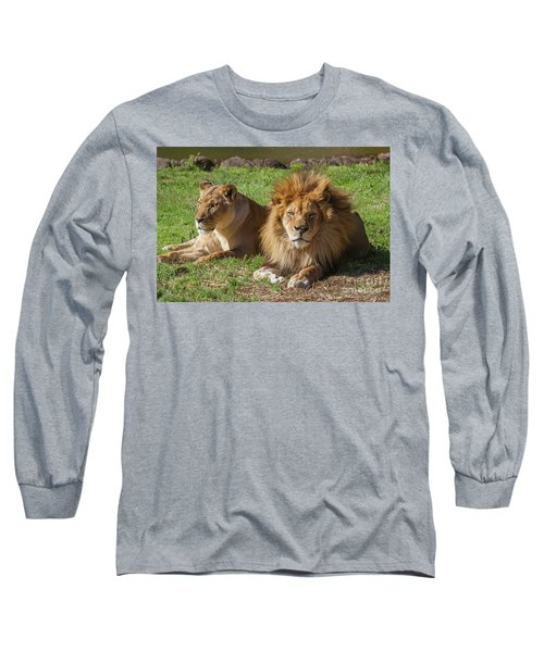 Lion And Lioness Long Sleeve T-Shirt