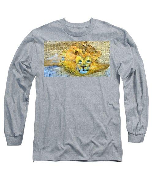 Lion Long Sleeve T-Shirt by Ann Michelle Swadener