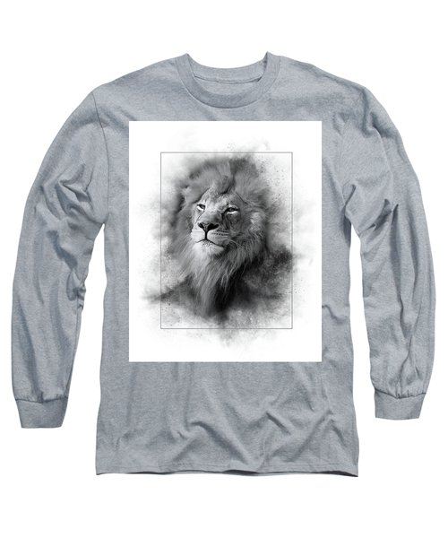Lion Black White Long Sleeve T-Shirt