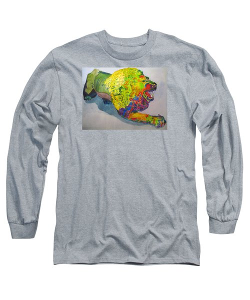 Lion Of Judah Long Sleeve T-Shirt by Sandy McIntire