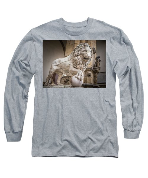 Lion On The Porch Long Sleeve T-Shirt