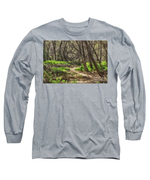 Lion Trail At Hassayampa Nature Reserve Long Sleeve T-Shirt by Anne Rodkin