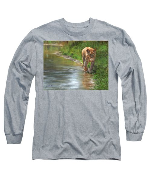 Lioness. Water's Edge Long Sleeve T-Shirt by David Stribbling