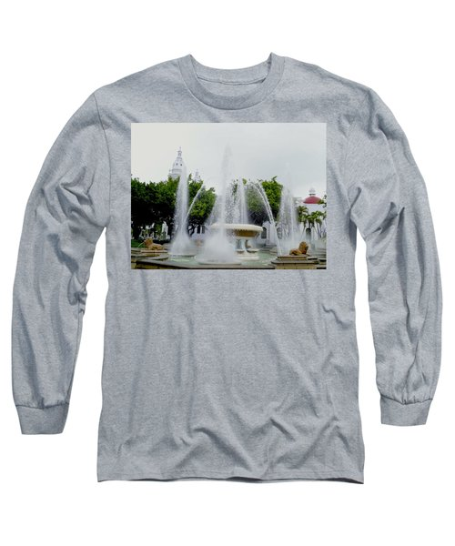 Lions Fountain, Ponce, Puerto Rico Long Sleeve T-Shirt