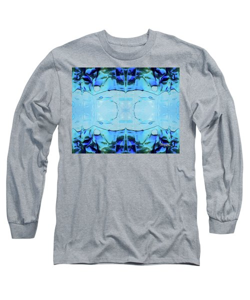Long Sleeve T-Shirt featuring the digital art Liquid Abstract  #0059-2 by Barbara Tristan