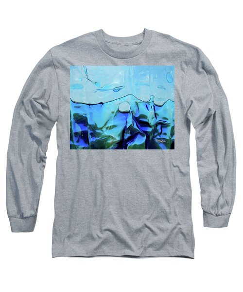 Long Sleeve T-Shirt featuring the photograph Liquid Abstract  #0059 by Barbara Tristan