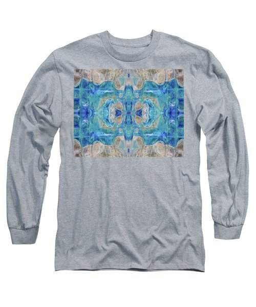 Long Sleeve T-Shirt featuring the digital art Liquid Abstract  #0060-1 by Barbara Tristan