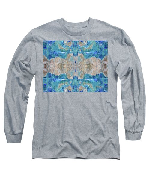 Long Sleeve T-Shirt featuring the digital art Liquid Abstract  #0060-2 by Barbara Tristan