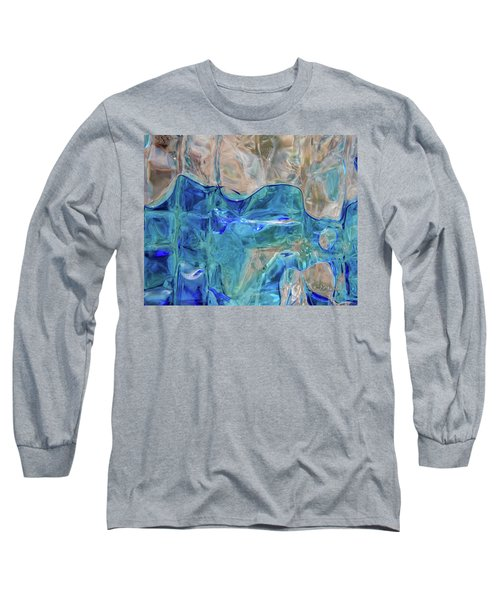 Long Sleeve T-Shirt featuring the photograph Liquid Abstract  #0060 by Barbara Tristan