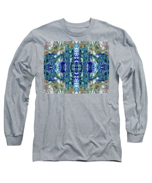 Long Sleeve T-Shirt featuring the digital art Liquid Abstract #0061-2 by Barbara Tristan