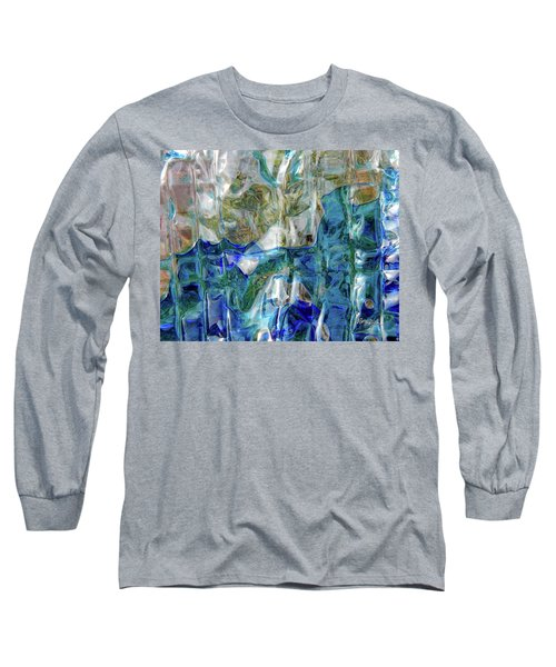 Long Sleeve T-Shirt featuring the photograph Liquid Abstract #0061 by Barbara Tristan