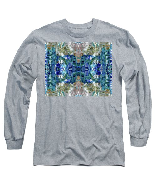 Long Sleeve T-Shirt featuring the digital art Liquid Abstract #0061_1 by Barbara Tristan