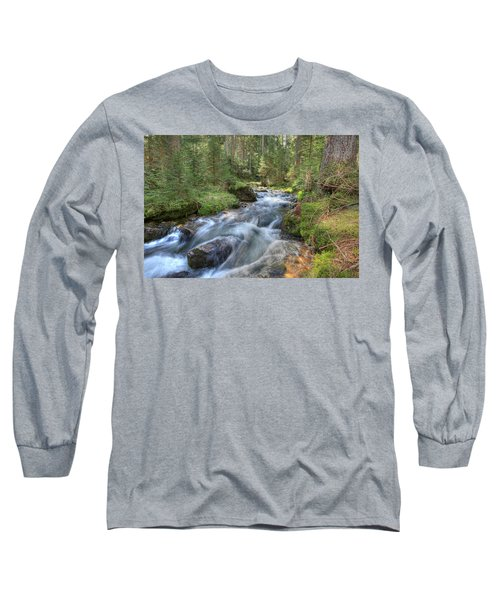 Liquid Snow Long Sleeve T-Shirt by Sean Allen
