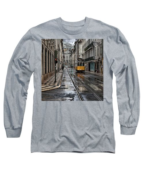 Long Sleeve T-Shirt featuring the photograph Lisbon Streets by Jorge Maia