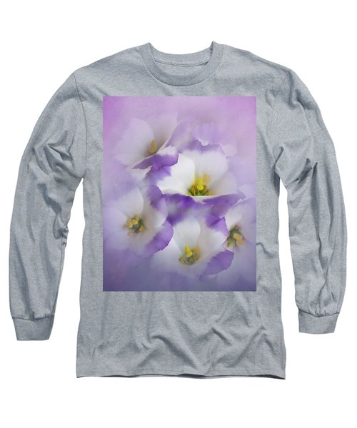 Long Sleeve T-Shirt featuring the photograph Lisianthus Grouping by David and Carol Kelly