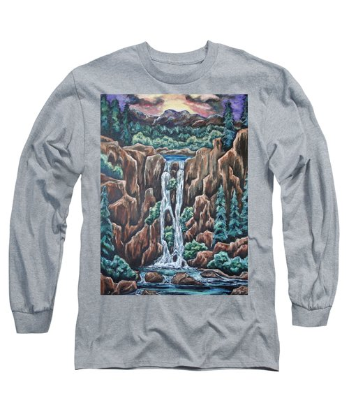 Long Sleeve T-Shirt featuring the painting Listen To The Echoes by Cheryl Pettigrew