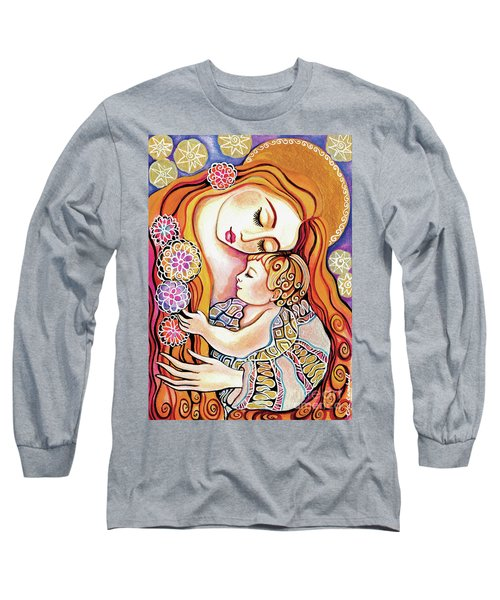 Long Sleeve T-Shirt featuring the painting Little Angel Sleeping by Eva Campbell