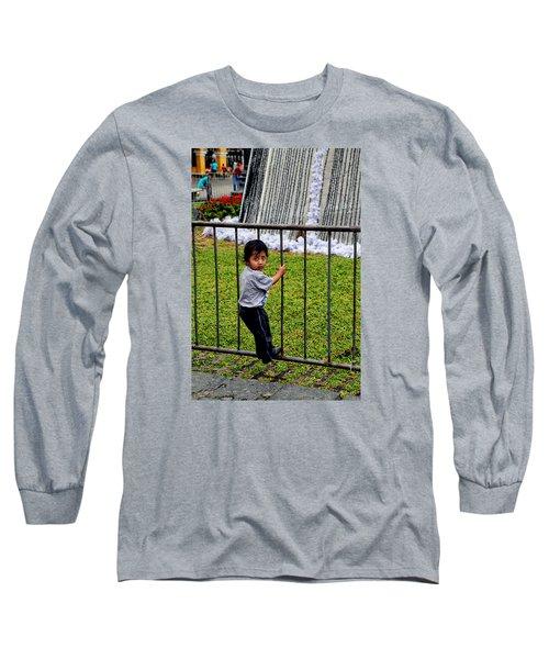 Little Boy In Peru Long Sleeve T-Shirt