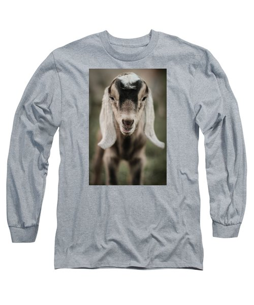 Long Sleeve T-Shirt featuring the photograph Little Goat In Color by Kelly Hazel