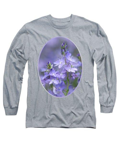 Little Purple Flowers Vertical Long Sleeve T-Shirt