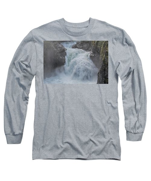 Long Sleeve T-Shirt featuring the photograph Little Qualicum Upper Falls by Randy Hall