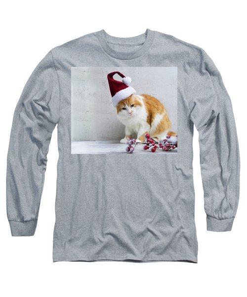 Little Santa Helper II Long Sleeve T-Shirt by Anastasy Yarmolovich