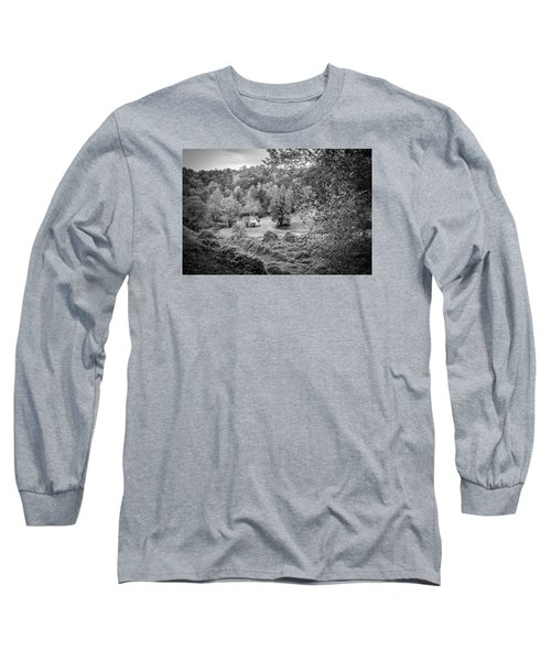 Long Sleeve T-Shirt featuring the photograph Little Victorian Farm House In A Mountain Field by Kelly Hazel