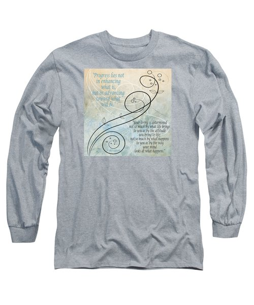 Long Sleeve T-Shirt featuring the digital art Living by Angelina Vick