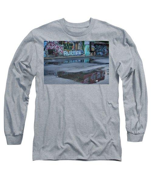 Long Sleeve T-Shirt featuring the photograph Ljubljana Graffiti Reflections #2 - Slovenia by Stuart Litoff