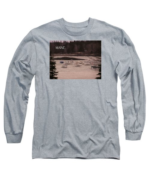 Lobster Boats Long Sleeve T-Shirt by Jewels Blake Hamrick