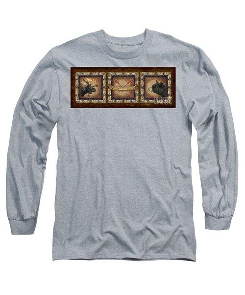 Lodge Panel Long Sleeve T-Shirt by Joe Low