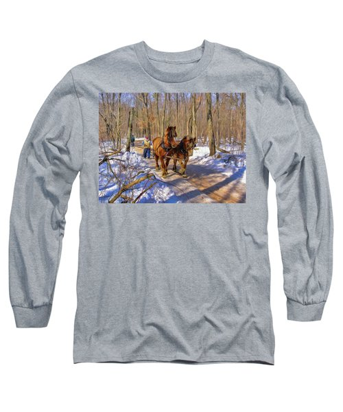 Logging Horses 1 Long Sleeve T-Shirt