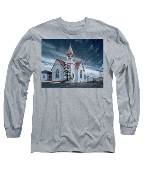 Long Sleeve T-Shirt featuring the photograph Loleta Church by Greg Nyquist