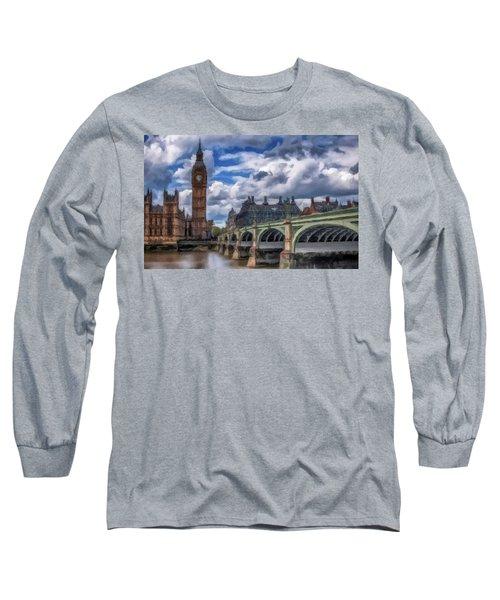 London Big Ben Long Sleeve T-Shirt by David Dehner