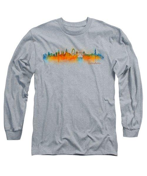 London City Skyline Hq V3 Long Sleeve T-Shirt by HQ Photo