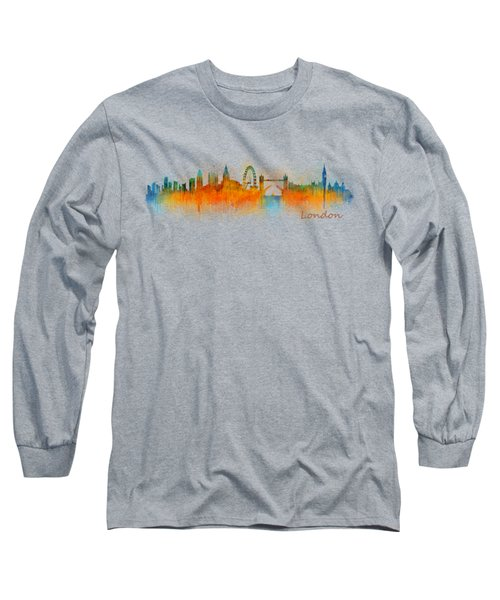 London City Skyline Hq V3 Long Sleeve T-Shirt