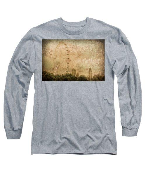 London, England - London Eye Long Sleeve T-Shirt