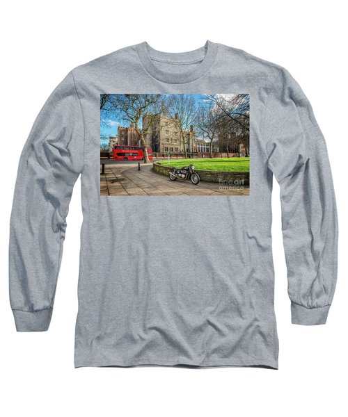 Long Sleeve T-Shirt featuring the photograph London Transport by Adrian Evans