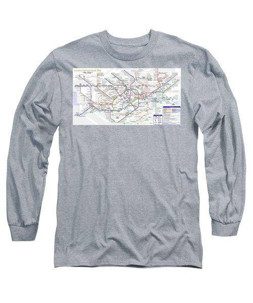 London Underground Map Long Sleeve T-Shirt